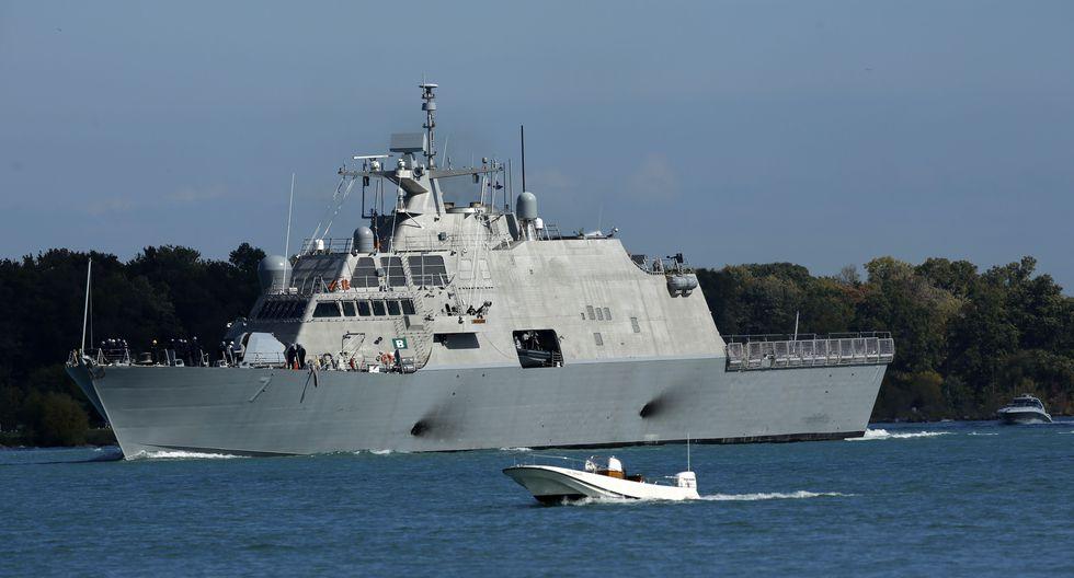 Los buques de combate litoral como el USS Detroit son barcos de guerra de última generación. (Photo by JEFF KOWALSKY / AFP).