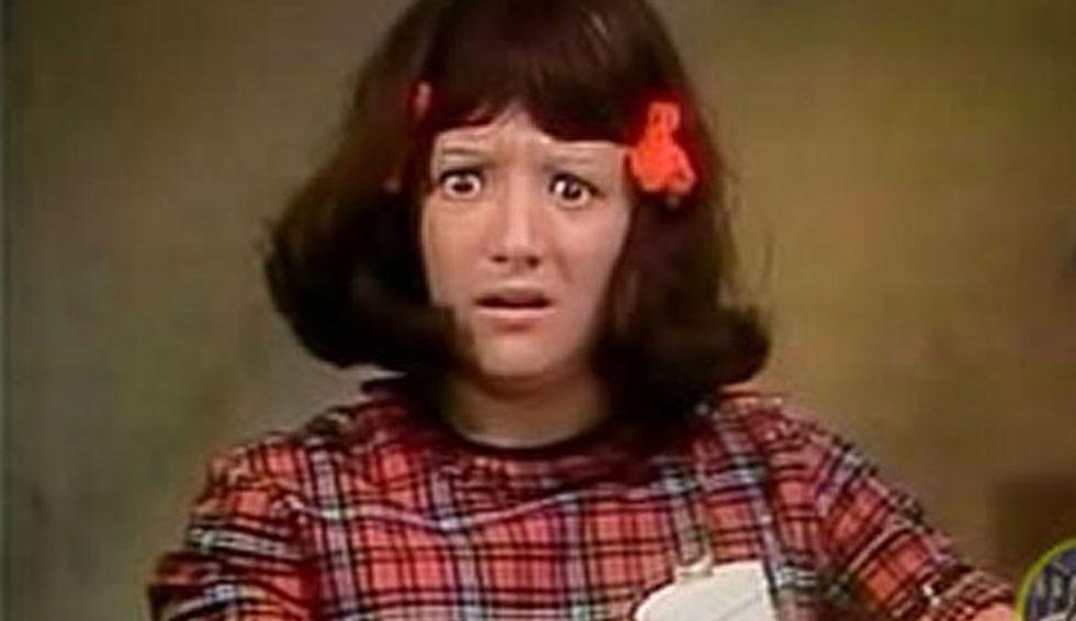 Malicha es la ahijada de Don Ramón, la prima de la Chilindrina y la hija de Don Román. Es de carácter parecido al de su prima.(Foto: Televisa)