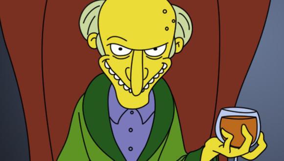 """""""The Simpsons"""": ¿cuántos años tiene exactamente el señor Burns? (Foto: Fox / Disney)"""