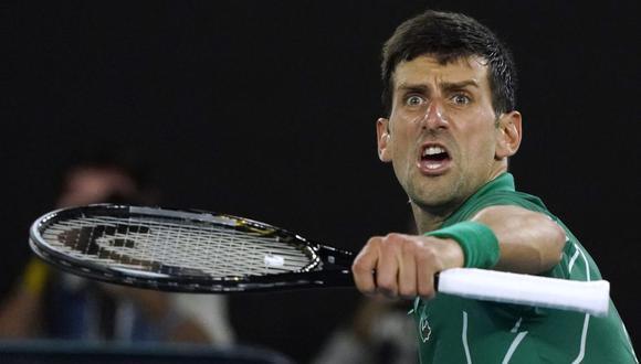 """Novak Djokovic tras avanzar a la final del Australian Open 2020: """"Es una infortunio que Federer no haya podido estar al máximo""""   Foto: AP"""