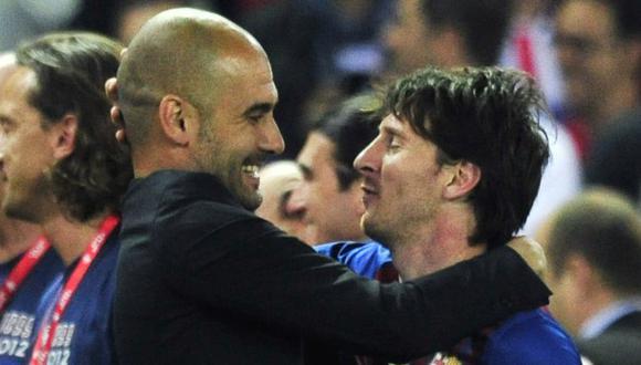 Pep Guardiola alabó a Lionel Messi y recordó su paso por Barcelona. (Foto: AFP)