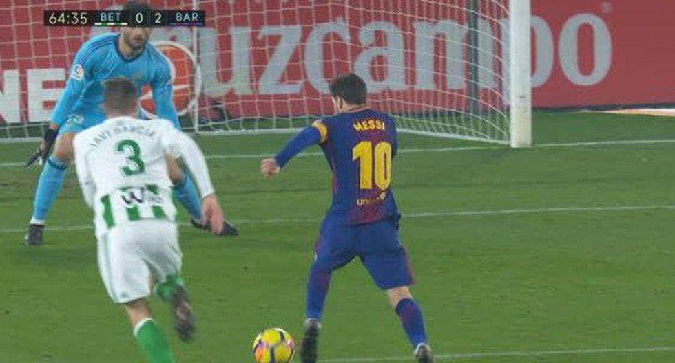 Con estos goles, además, Lionel Messi se transformó en el máximo artillero de las cinco grandes ligas europeas en la historia del fútbol. Superó el récord del alemán Gerd Muller. (Foto: captura de video)