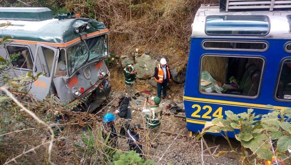 Inca Rail y Perú Rail informarán sobre circunstancias de choque de trenes en Cusco