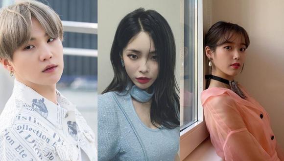Suga, Heize y IU son solo algunos de los artistas coreanos en ayudar a las víctimas del coronavirus (Foto: Instagram)