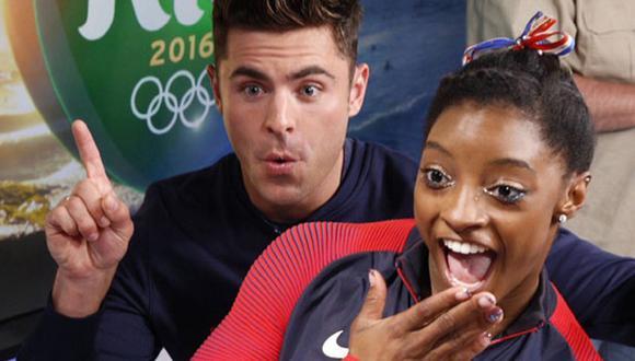 Simone Biles y Zac Efron en el tuit más retuiteado de Río 2016