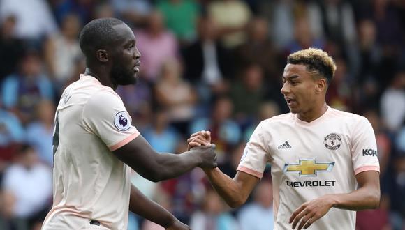 Apareció la versión goleadora de Romelu Lukaku en el Turf Moor. El '9' del Manchester United concretó su doblete ante el Burnley, por la fecha 04° de la Premier League. (Foto: AP)