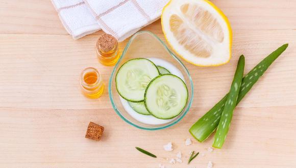 Productos como el pepino, aloe vera o aceites esenciales se convertirán en tus grandes aliados para estos días de cuarentena. (Foto: Pixabay)