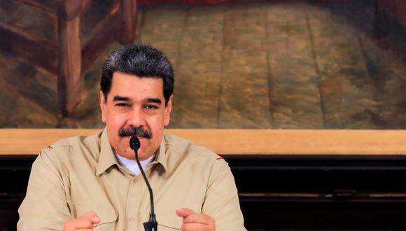 """El presidente venezolano, Nicolás Maduro, aseguró este jueves que hay entre 8 y 10 """"actores económicos que están detrás de las perturbaciones"""" en los precios y en la cotización de la moneda nacional, el bolívar soberano. (Foto: Prensa Miraflores vía EFE)"""