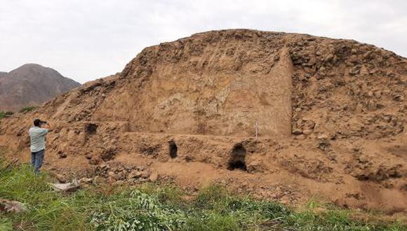 La pintura y la huaca iban a ser destruidas por unos agricultores que solo querían ampliar sus áreas de cultivo (Foto: Andina)