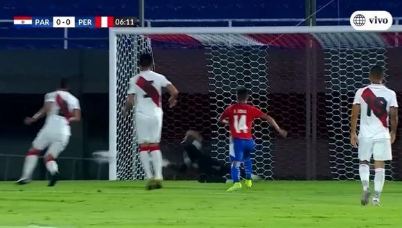 Pedro Gallese se luce con atajada en la primera ocasión de Paraguay (América TV)