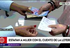 Los Olivos: mujer fue estafada con el cuento de la lotería