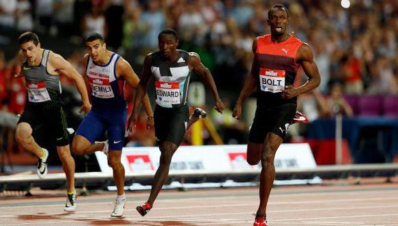 Usain Bolt ganó los 200 metros en Londres de Diamond League