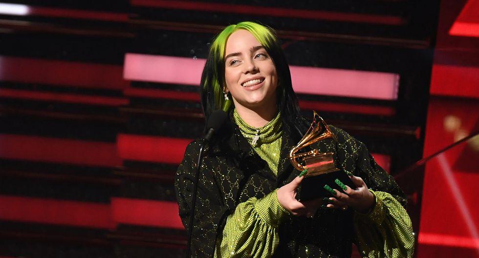 Billie Eilish se coronó como Mejor artista nuevo en los Grammy 2020. (Foto: AFP)