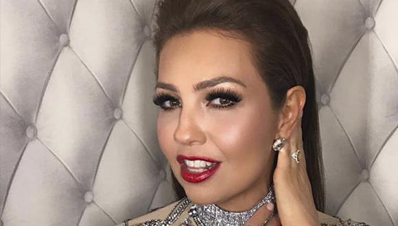 Thalía sorprendió en Instagram al posar junto a Robert Downey Jr. y Jimmy Fallon.