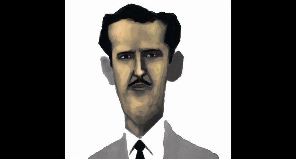Ilustración de Francisco Miró Quesada Cantuarias hecha por Victor Aguilar