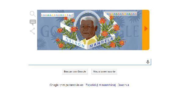 Nelson Mandela: Google lanzó un doodle en homenaje