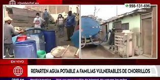 Coronavirus en Perú: municipalidad de Chorrillos reparte agua potable a población vulnerable