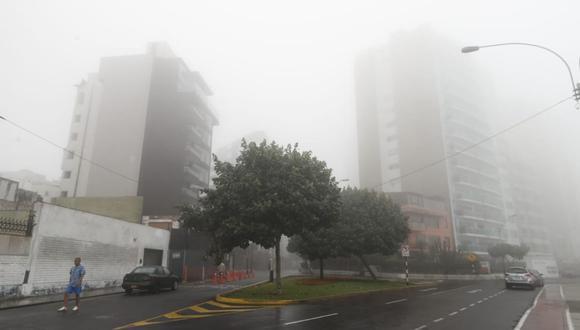 También se prevé la ocurrencia de lloviznas, propias de la estación, principalmente entre la tarde y la madrugada. (Foto: César Campos/GEC)