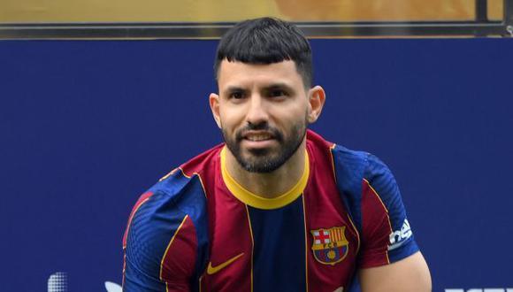 Sergio Agüero tiene contrato con FC Barcelona hasta mediados del 2023. (Foto: AFP)