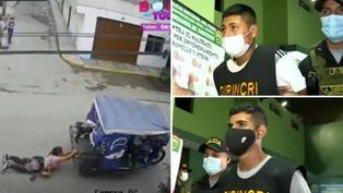 El Agustino: Policía detuvo a sujetos que arrastraron a mujer en mototaxi