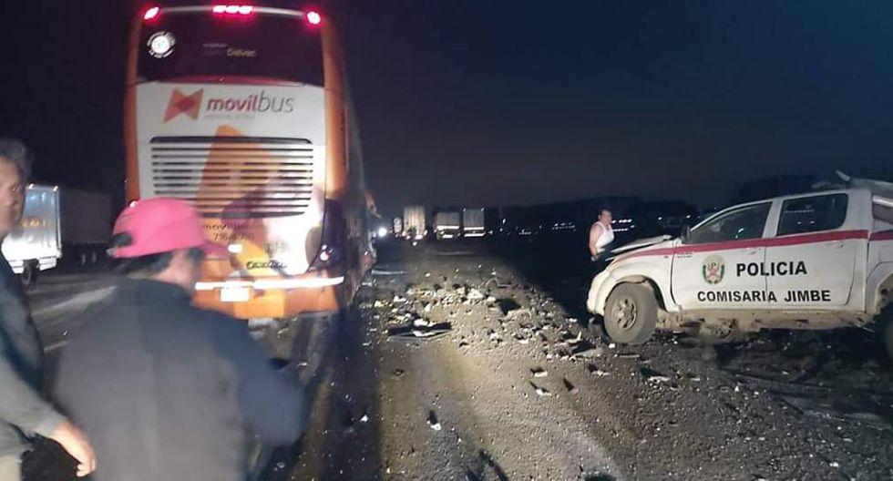 El accidente se registró a la altura del distrito de Samanco (Foto. cortesía)