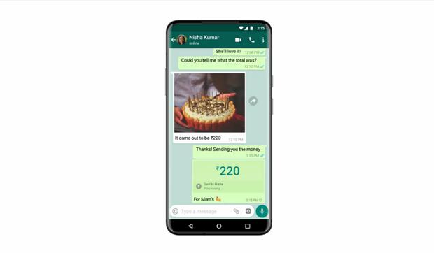 This will appear on your mobile device when you make a transaction via WhatsApp.  (Photo: MAG)