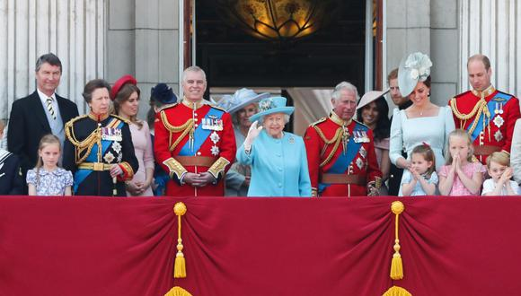 La familia real británica en una imagen del 9 de junio del 2018. (Foto: Daniel LEAL-OLIVAS / AFP).