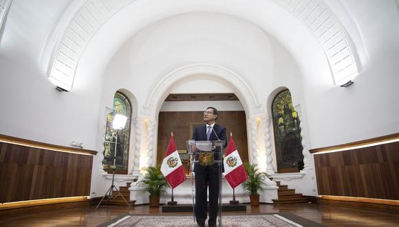 Presidente Martín Vizcarra brinda mensaje a la nación. (Foto: Presidencia de la República)