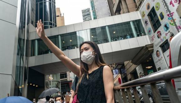 Manifestaciones prodemocracia volvieron a las calles por la nueva ley de seguridad. (Getty Images).