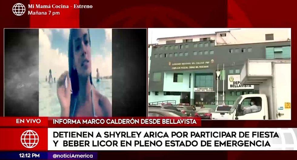 En el lugar, los agentes policiales encontraron a siete jóvenes libando licor y con música a alto volumen. (Captura de pantalla / América TV).