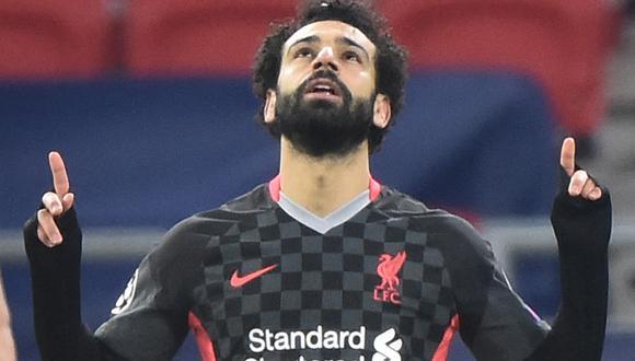 Mohamed Salah ha aparecido para marcar el 0-1 a favor del Liverpool | Foto: AFP