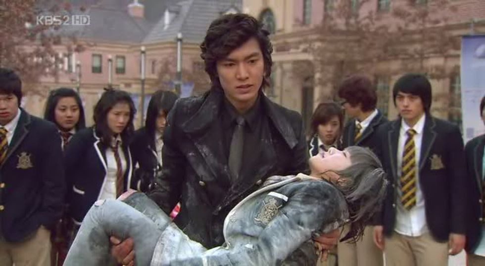 Lee Min Ho and Koo Hye Sun como Goo Joon Pyo and Geum Jan Di en el exitoso dorama. (Photo: KBS).