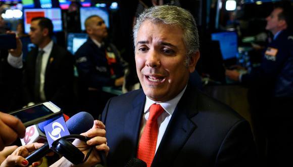 Iván Duque evade 5 veces pregunta si permitiría entrada de tropas de Estados Unidos por Venezuela. (AFP)
