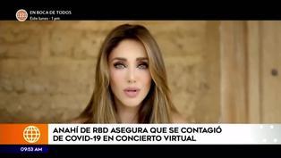 Anahí de RBD reveló haberse contagiado de COVID-19 durante el concierto virtual