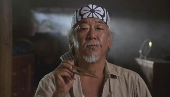 "El actor Pat Morita interpretó al señor Miyagi en las cintas de ""The Karate Kid"" (Foto: Columbia Pictures)"