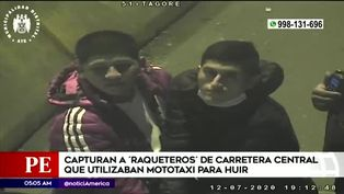 Serenazgo de Ate captura a 'raqueteros' de la carretera central