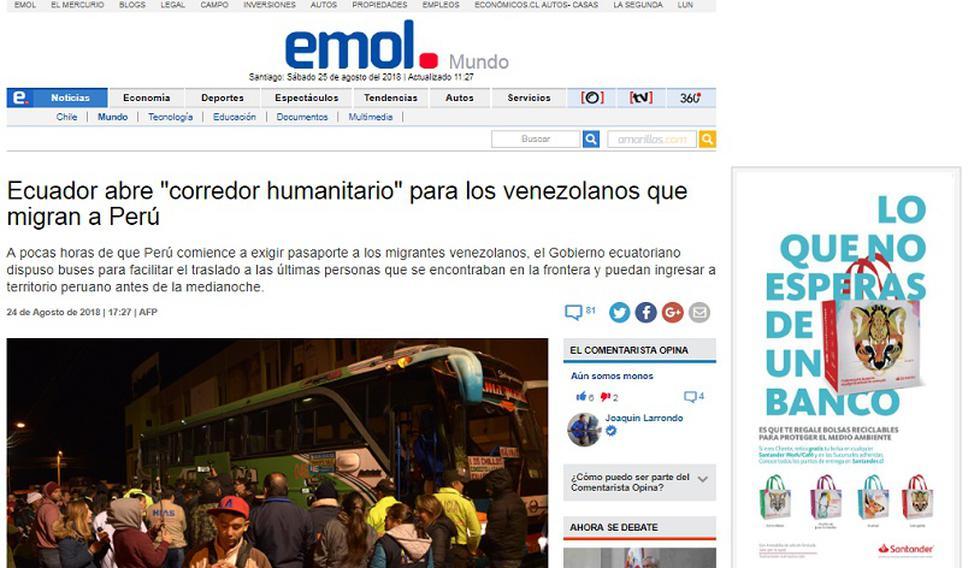 Éxodo venezolano hacia Perú en los principales diarios del mundo [FOTOS]