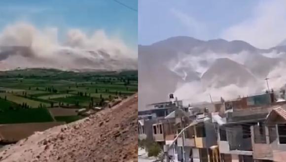Sismo de 5.5 grados remeció Arequipa y provocó deslizamientos en Vítor | VIDEO