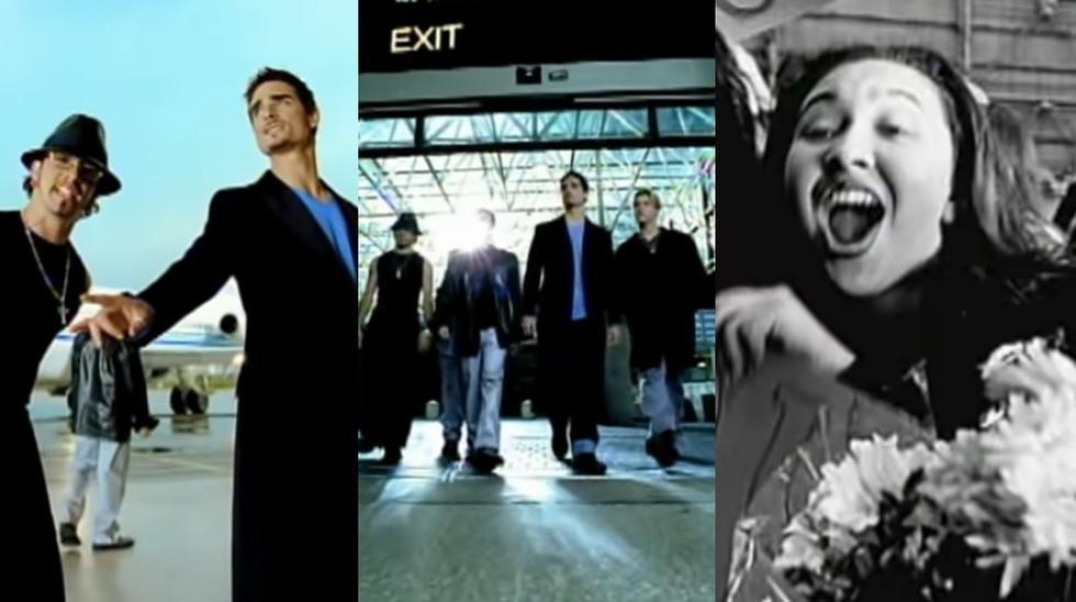 """Imágenes de """"I Want It That Way, el éxito de los Backstreet Boys de 1999."""