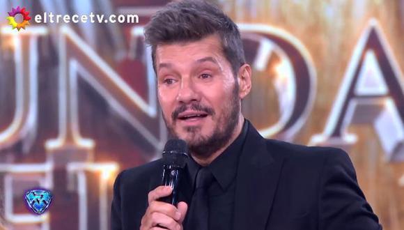 "Marcelo Tinelli conduce ""Showmatch"" en El Trece."