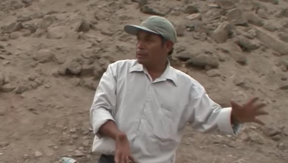 """Justo Arizapana, reciclador testigo del entierro de los cuerpos de los desaparecidos del Caso La Cantuta, falleció este jueves 11 de junio. (Imagen: Documental """"La Cantuta en la boca del diablo"""")."""