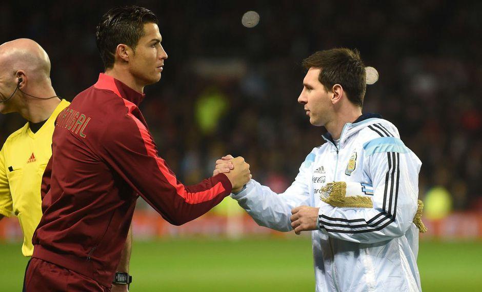 Messi y Cristiano Ronaldo. (Foto: AFP)