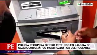 Pueblo Libre: Policía recupera dinero retenido en ranura de cajero automático