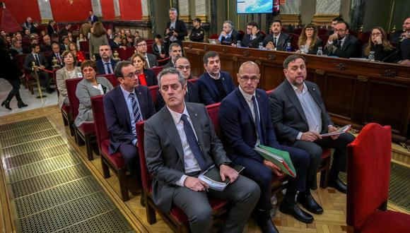 España: Los independentistas catalanes encarcelados. (Foto: Emilio Naranjo / POOL / AFP).