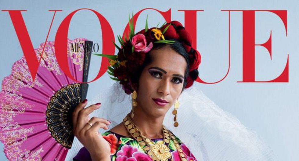Estrella Vázquez luce atuendo mexicano en una portada que le dará a conocer al mundo quiénes son las muxe. (Vogue / Tim Walker)