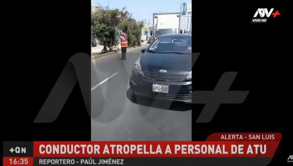 El alcalde de San Luis informó que el fiscalizador deberá ser operado debido a que tiene una fractura en el cráneo. En tanto, la Procuraduría Municipal ha iniciado las acciones legales contra el conductor del taxi. (Foto: captura de pantalla ATV)