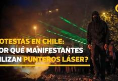 Protestas en Chile: ¿Por qué los manifestantes usan punteros láser?