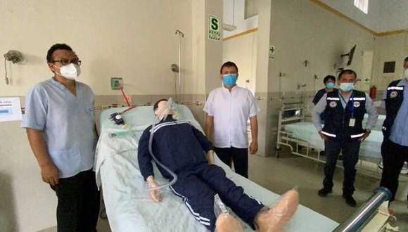 La donación de estas camas estuvo a cargo de la asociación Respira Perú, lo que ha permitido implementar una sala para pacientes con requerimiento de mayor oxigenación. (Foto: Gob.pe)