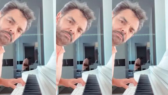 Si bien el ex de Victoria Ruffo es muy talentoso en varios rubros del arte, tocar el piano no era uno de sus dones (Foto: Eugenio Derbez / Instagram)