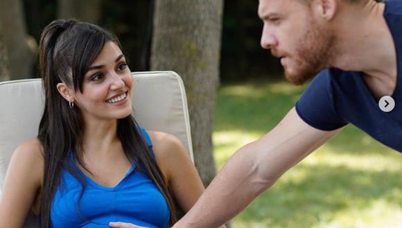 Eda y Serkan están emocionados por la llegada de su segundo hijo, a quien sí podrán recibir juntos, a diferencia de Kiraz (Foto: Love Is in the Air / MF Yapım)
